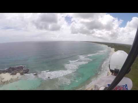 Dave S. (where's that Moron now?) flying around scenic Caicos Islands