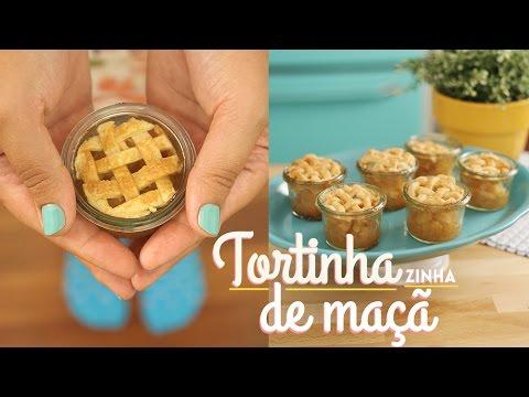 MINI TORTA DE MAÇÃ NO POTINHO I MASSA PERFEITA E CROCANTE