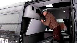 Koeajossa VW Crafter retkeilyauto vuosimallia 2012