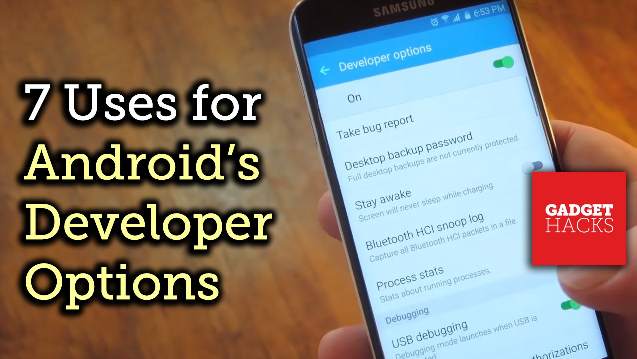 How to make android faster using developer options