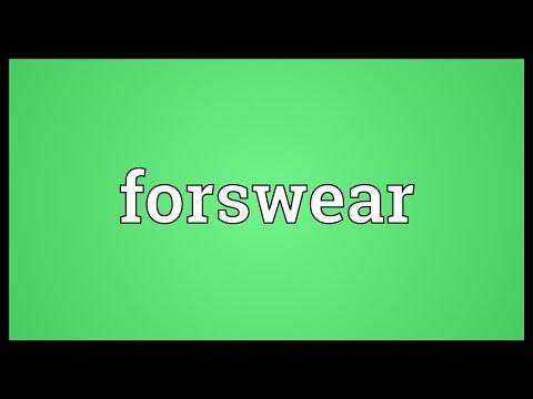 Header of forswear