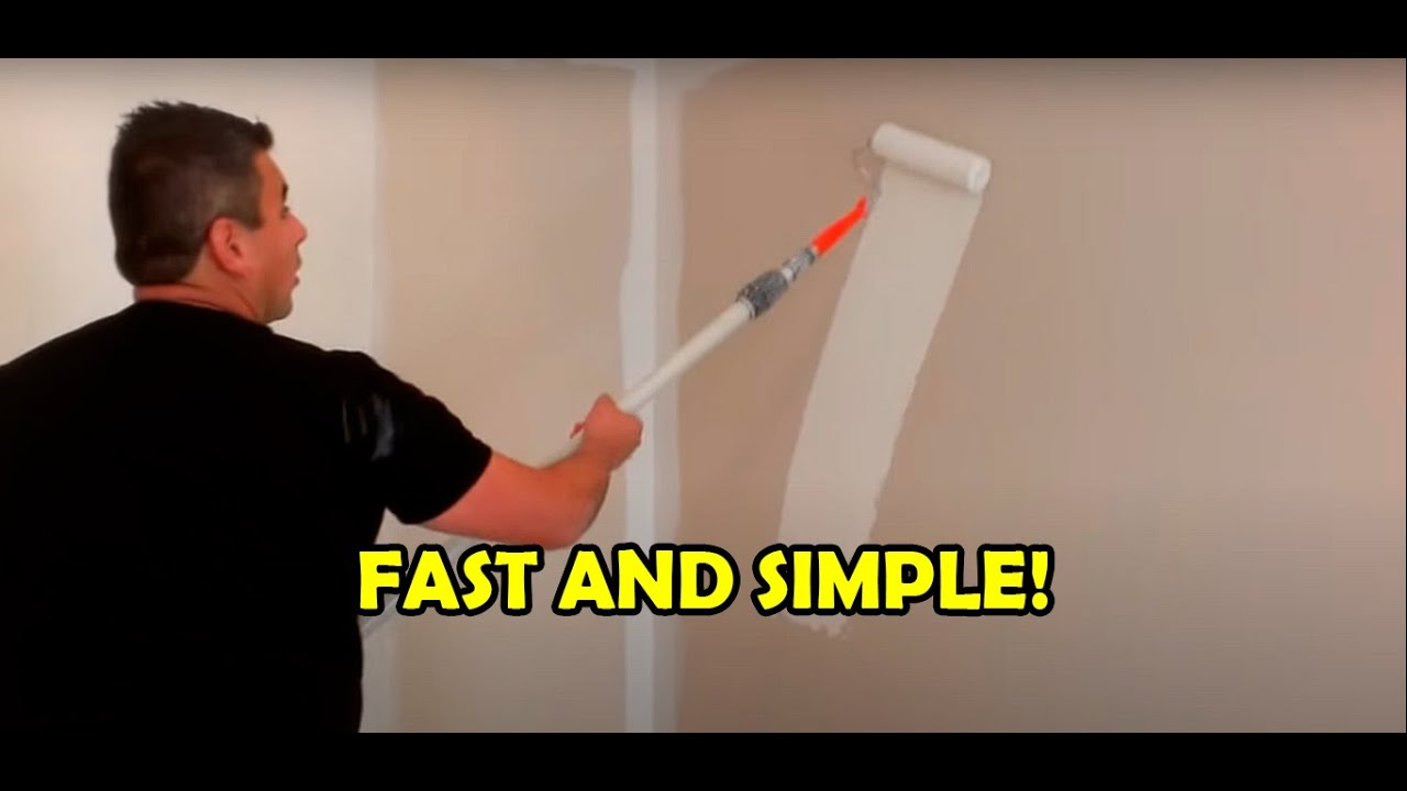 How to paint a room in 10 minutes - YouTube