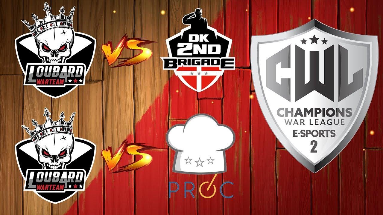 CWL eSport Saison 2 W2 - Loubard War Team vs Proc et vs DK 2nd Brigade | Clash of Clans