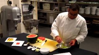 Watermelon Salad ~ Recipe Thyme At Carolina Crossroads Kitchen ~ Chapel Hill, Nc