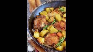 Курица с картошкой рецепт приготування в описах