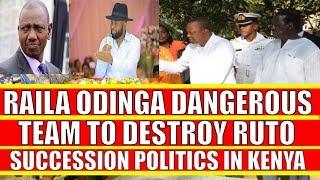 Raila Odinga Team to Destroy William Ruto Plan to Succeed Uhuru Kenyatta