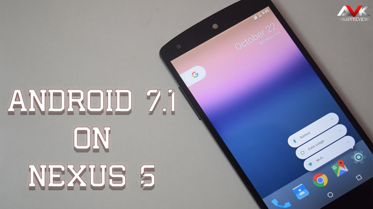 Phone Is Nexus 5 An Android Phone android 7 1 on nexus 5 youtube 5