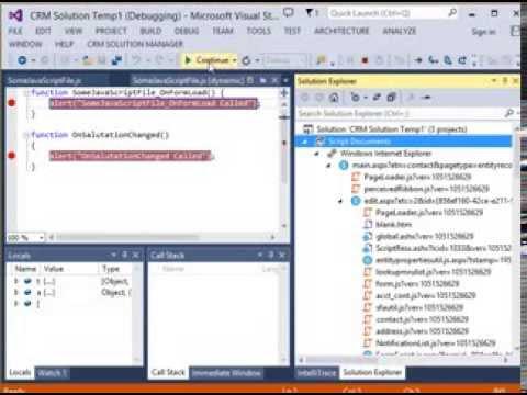 Debug CRM Web Resource in Visual Studio