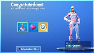 How To Get SKULLY CHALLENGES and FREE SKIN UPGRADE in Fortnite Valentines Event!