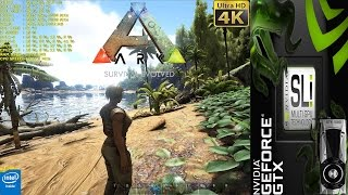 ARK Survival Evolved 4K Epic Settings | GTX 1080 SLI |HB Bridge | i7 5960X 4.5GHz