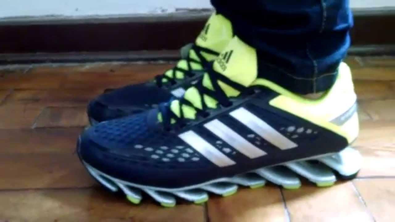 Tênis Adidas Springblade Razor - YouTube 4854532b9acbc