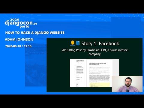 Image from How to Hack a Django Website - Adam Johnson