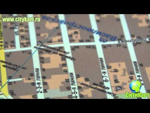 Настенная карта Санкт Петербурга