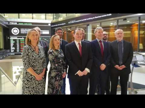 Greensleeves Care - Celebrating at the London Stock Exchange Market Open.