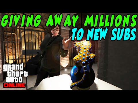 🔴LIVE🔴 GTA 5 Giving Away MILLIONS To NEW Subs (85% Heist Giveaway) + RACES #gta5