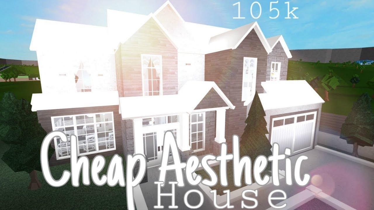 Roblox Bloxburg Simple Aesthetic House 105k Bloxburg House Youtube
