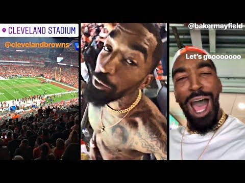 J.R. Smith Goes Wild & Shirtless At Browns Game After They Finally Win