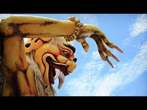 The Ogoh-ogoh Parade in Ubud On The Eve of Nyepi