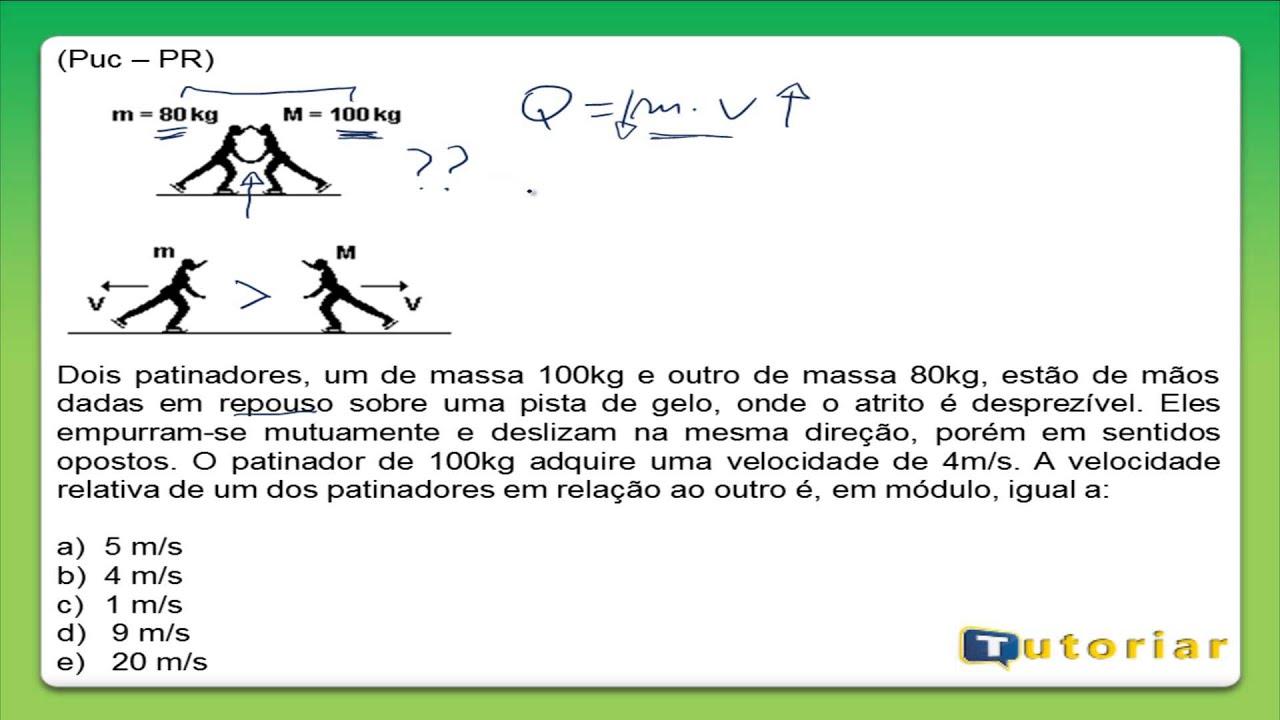 impulso e quantidade de movimento exercicios pdf