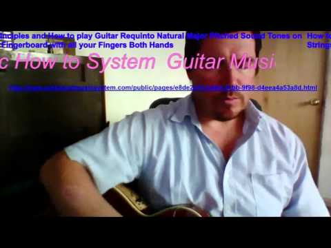 HARMONIC REQUINTO PITCHED TONE SOUNDS ON GUITAR