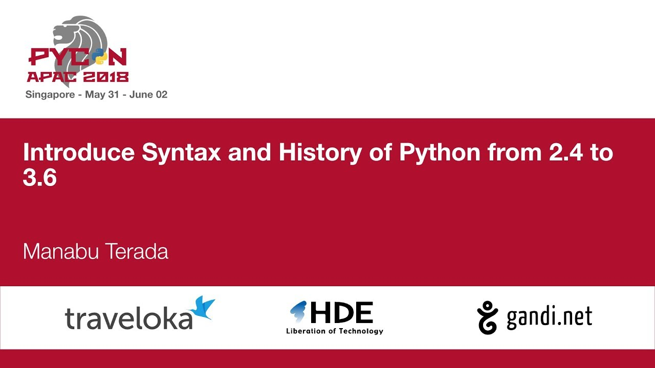 Image from Introduce Syntax and History of Python from 2.4 to 3.6