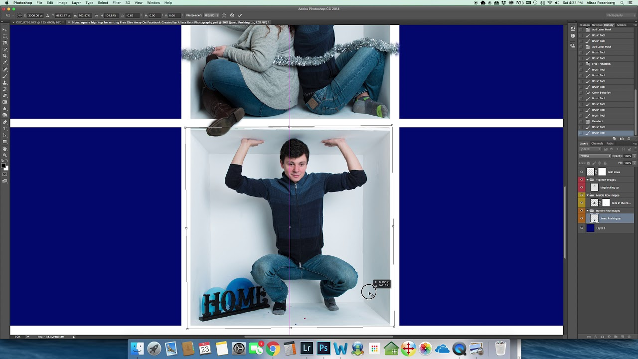 how to make a box template in photoshop
