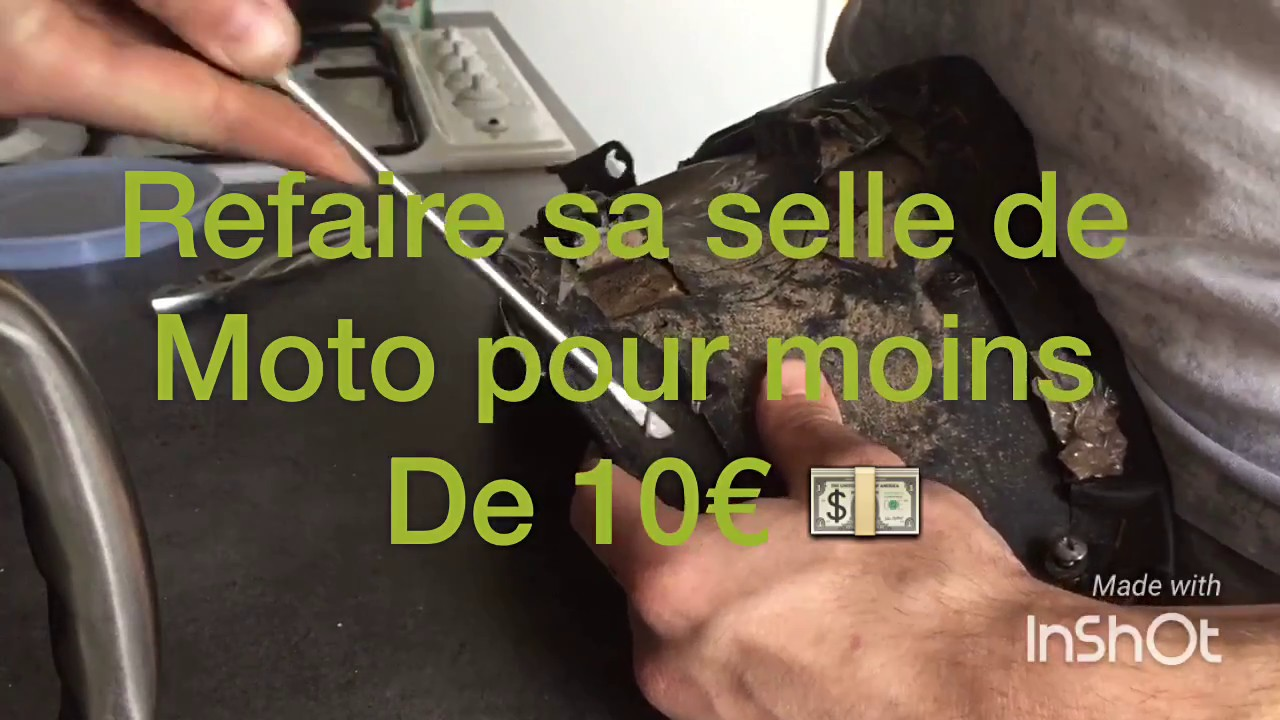 tuto refaire sa selle de moto pour moins de 1o youtube. Black Bedroom Furniture Sets. Home Design Ideas