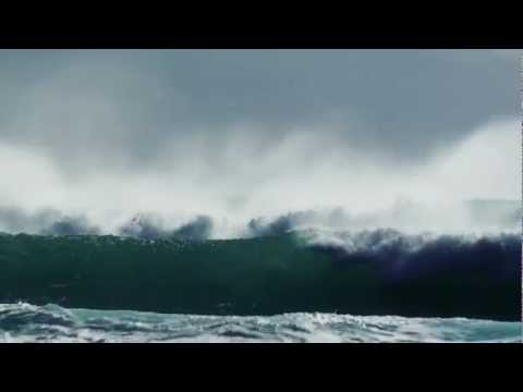 Huge wave windsurf action in Greece