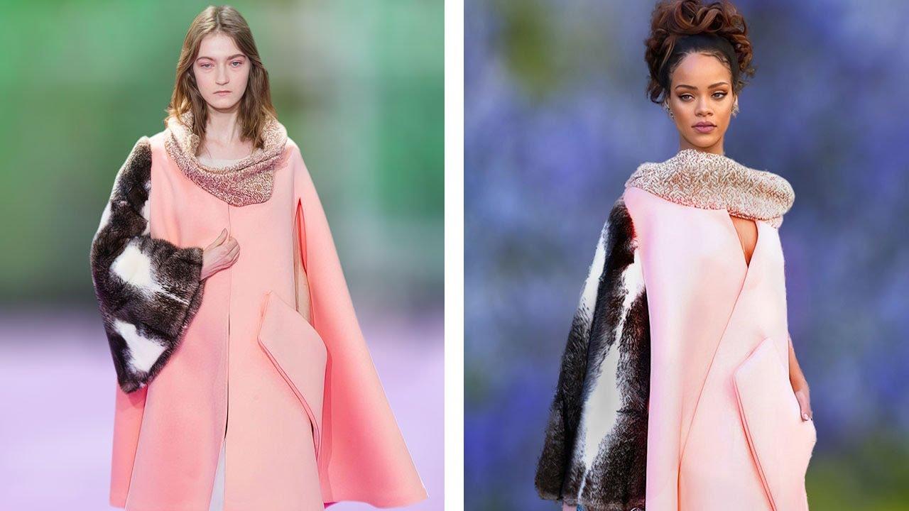 The model vs Rihanna wearing it