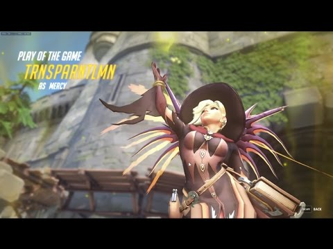 overwatch|Play of the game|MERCY?!|My servants never die!