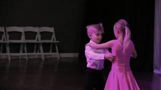 Cicily & Cohen practicing their ballroom dance at DF Dance Studio