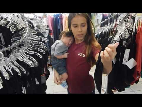 Shopping for Dance Clothes at Attitude Dancewear with Reborn Baby Alexander