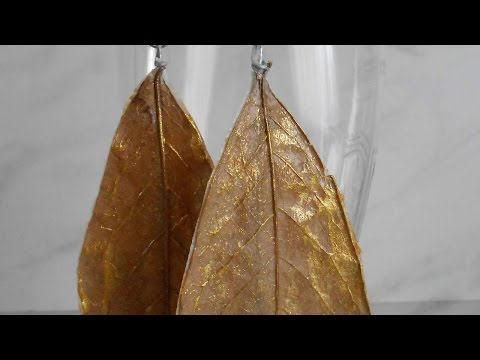 How To Making Gold Leaf Earrings - DIY Style Tutorial - Guidecentral