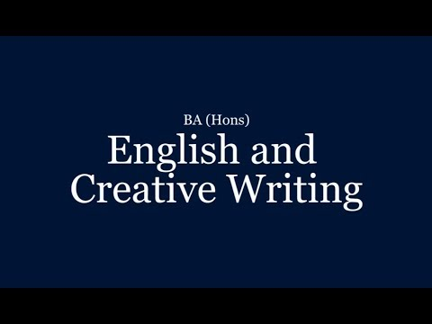 Creative Writing (Joint Honours)