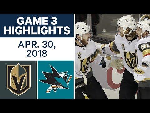 NHL Highlights | Golden Knights vs. Sharks, Game 3 - Apr. 30, 2018