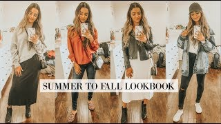 SUMMER TO FALL TRANSITION OUTFITS LOOKBOOK| STYLING TIPS| Preet Aujla