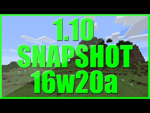 1.10 SNAPSHOT 16w20a NEWS | MINECRAFT UPDATE | POLAR BEARS - NEW MOBS - SPAWN EGGS