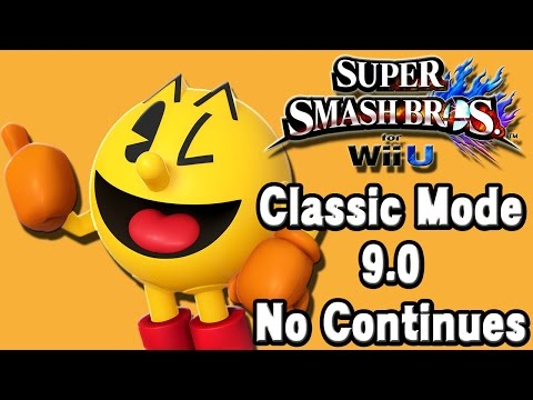 Super Smash Bros. For Wii U (Classic Mode 9.0 No Continues | Pac-Man) 60fps