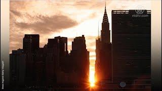 纽约独特景观 曼哈顿悬日 2018首秀(悬日景观)