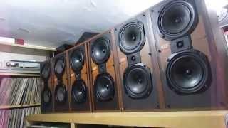 Vintage Kef speakers Carina ii sp3017 3 way loudspeaker system 1983  80 watts