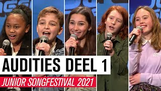 #1 AUDITIES JSF 2021 - DEEL 1 | JUNIOR SONGFESTIVAL 2021 🇳🇱