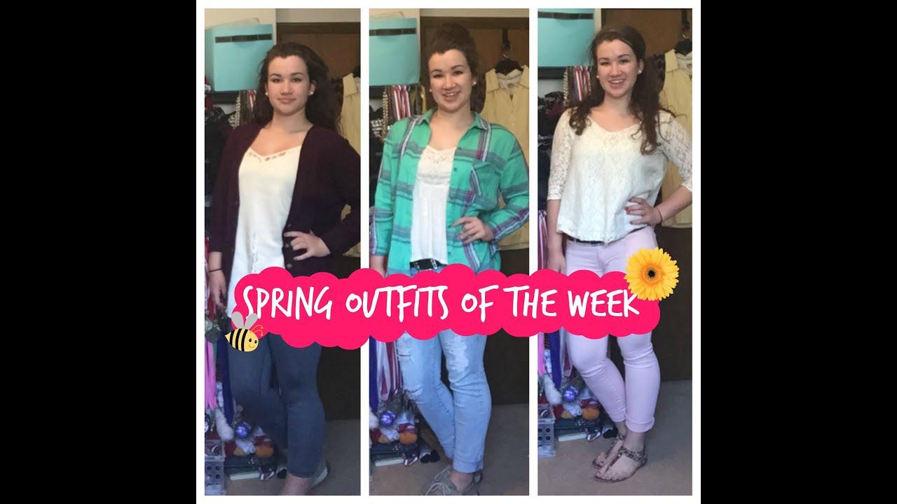 Spring Outfits of the Week Senior Year! Week 11 |Nicole Katherine - YouTube