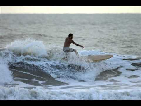 Hollow Wood Surfboards in action
