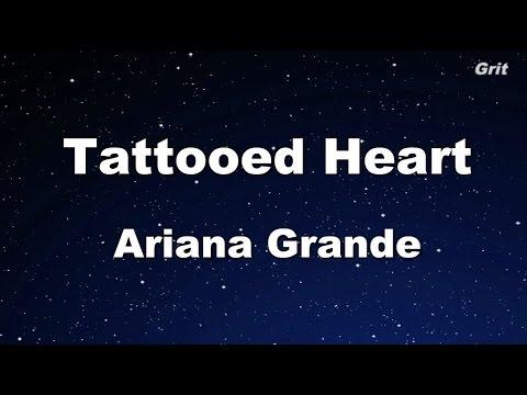 Tattooed Heart - Ariana Grande Karaoke【Guide Melody】