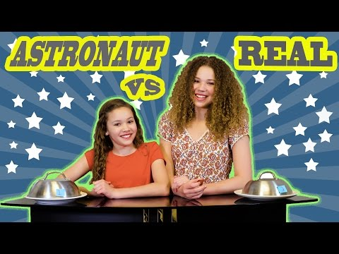 Thumbnail: Astronaut vs Real Food Challenge! (Haschak Sisters)