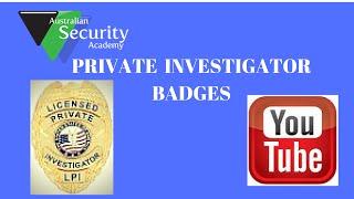 Private Investigator Badges