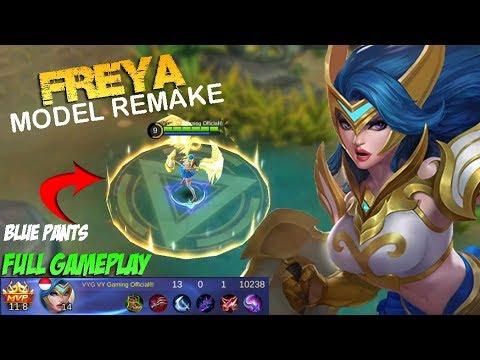 NEW FREYA MODEL REMAKE Full Gameplay - Mobile Legends Patch 2.10