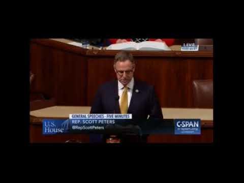 Rep. Peters Delivers Harsh Rebuke of GOP Tax Plans on House Floor