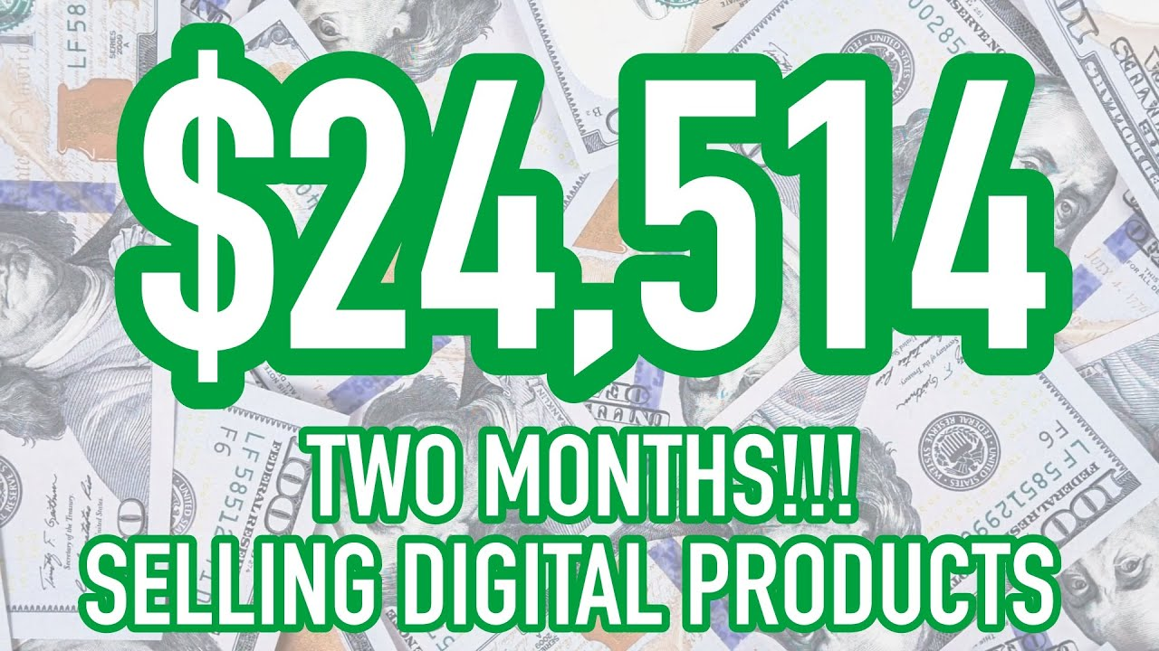 How I Made $24,000 Selling Digital Products Online in 60 DAYS 📲 (2021) Yon World