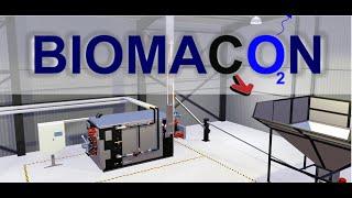Biomacon pyrolysis system installation - Carbon negativ biomass boiler technology - Biochar - 2021